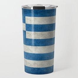Flag of Greece, vintage retro style Travel Mug