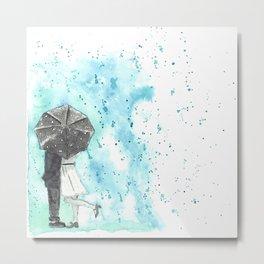 A Rainy Date Metal Print