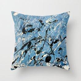 Dancing Greendrops #2 Throw Pillow