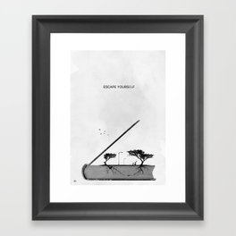 Escape yourself Framed Art Print