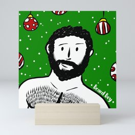 Beard Boy: Al I want for Christmas Mini Art Print