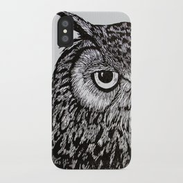 Black&White Owl iPhone Case