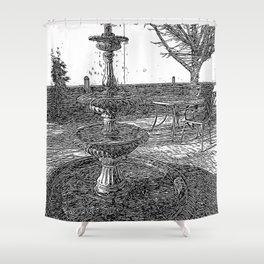 Peaceful Fountain Art Shower Curtain
