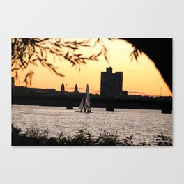 Sailboat on the Charles Canvas Print