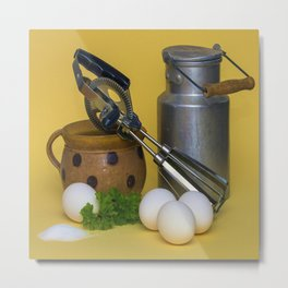 Milk Can Vignette Metal Print