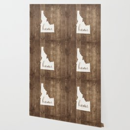 Idaho is Home - White on Wood Wallpaper