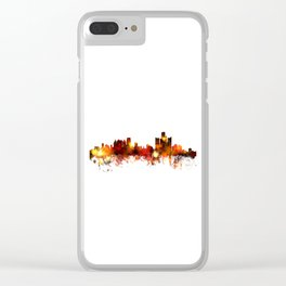 Detroit Michigan Skyline Clear iPhone Case