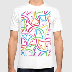 Technicolor Leaves Mens Fitted Tee White MEDIUM