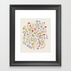 Light floral Framed Art Print