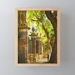 Legare Street Walk Framed Mini Art Print