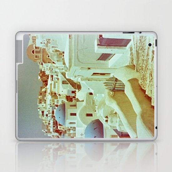Santorini in Raspberry and Blue II: shot using Revolog 600nm special effects film Laptop & iPad Skin