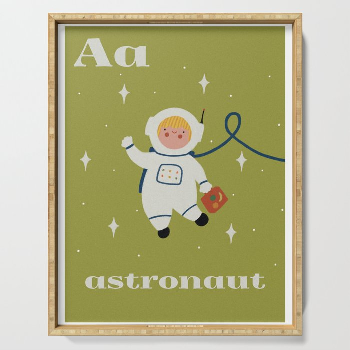 A is for Astronaut Serving Tray