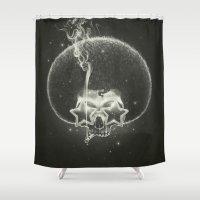 sagan Shower Curtains featuring Mr. Stardust by Dr. Lukas Brezak