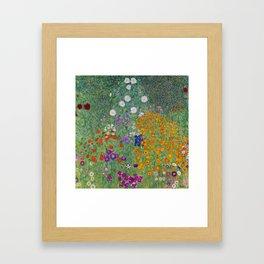 Gustav Klimt, Cottage Garden (Bauerngarten) Framed Art Print