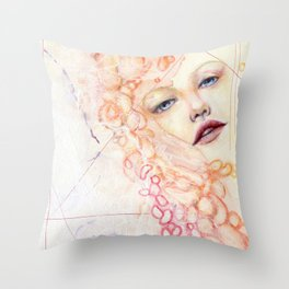 R.E.D. 7 -- Sensual Being Throw Pillow