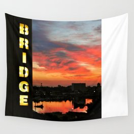 Sunset on Itchen Bridge Wall Tapestry