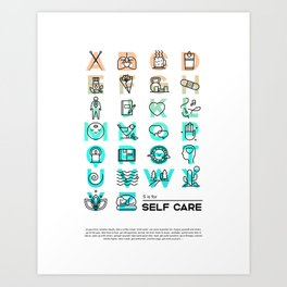 S is for Self Care Art Print