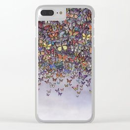 butterfly cascade Clear iPhone Case