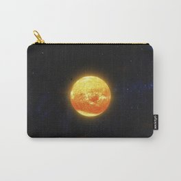 Space debris and gas planet orbiting red star. Outer Space, Cosmic Art and Science Fiction Concept. Carry-All Pouch