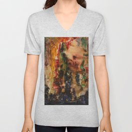 Vers le Songe et l'Abstrait, An Abstract Sketch by Gustave Moreau Unisex V-Neck