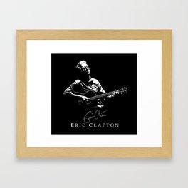 2 Eric Clapton - rock-blues-music -  Strato Framed Art Print