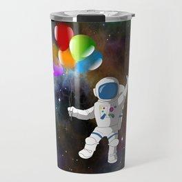 Astronaut with Balloons Travel Mug