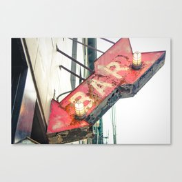 Bar Sign Canvas Print