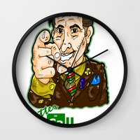 better call saul Wall Clocks featuring Better Call Saul...  Attorney Saul Goodman from Breaking Bad  by beetoons