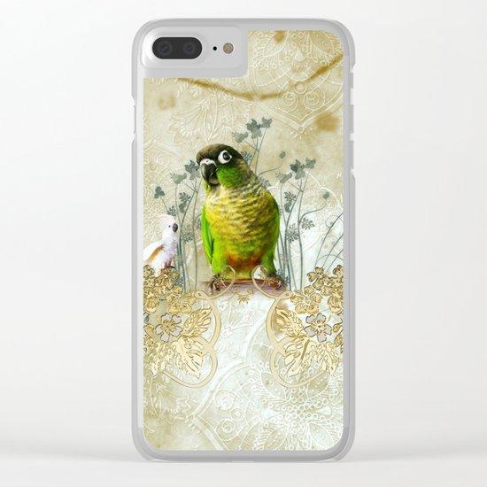 Wonderful, cute parrot Clear iPhone Case