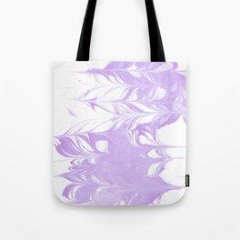 Marble pattern purple and white minimal inked minimalism marbled art Tote Bag