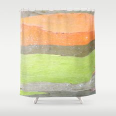 Retro Wood Shower Curtain