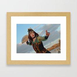 Fan warrior Framed Art Print