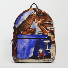 Dababy,baby on baby,music,rap,mixed media,watercolour,small,painting,poster,street art,graffiti,albu Backpack