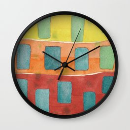 Placed in a Red Orange Yellow Field Wall Clock