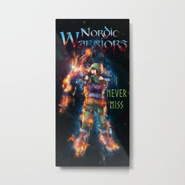 The Archer Color from Nordic Warriors Metal Print