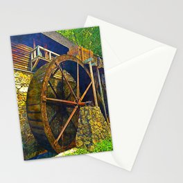 Gristmill Water Wheel Stationery Cards