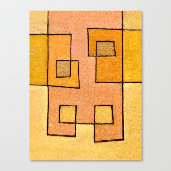 Protoglifo 04 'yellow hugging pink' Canvas Print