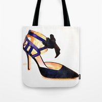 bow Tote Bags featuring Bow by Modern Swan
