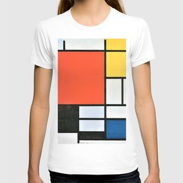 12,000pixel-500dpi - Composition With Red, Yellow, Blue, And Black - Piet Mondrian T-shirt