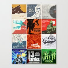 Station! Fantastic Cinematic - The Singles covers Canvas Print