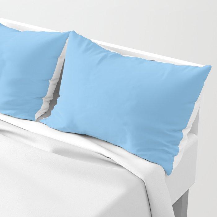 Light Denim Blue Color Pillow Sham