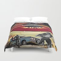 ufo Duvet Covers featuring UFO by Keka Delso