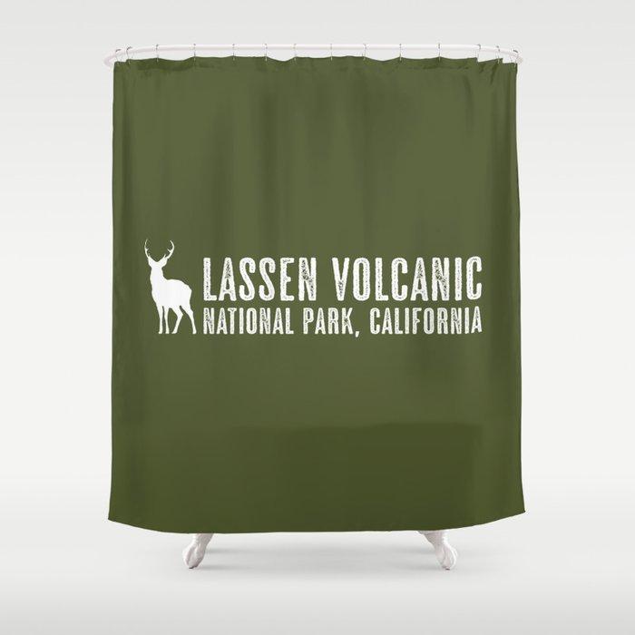 Deer Lassen Volcanic California Shower Curtain