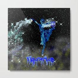 Aquarius Astrology Sign Metal Print