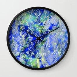 Psicodelic Adventure - Dark Blue Wall Clock