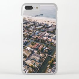 From Above | Venice Canals, Caifornia Clear iPhone Case