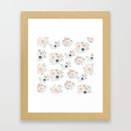 Dog Rose Pattern 2 Framed Art Print