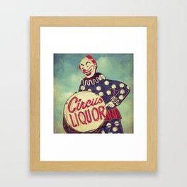 Circus Liquor, N. Hollywood, CA. Framed Art Print