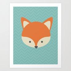 Fox Minimal Illustration Art Print