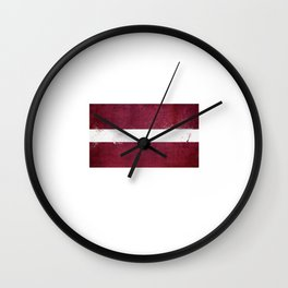 Latvia Flag design | Latvian design Wall Clock